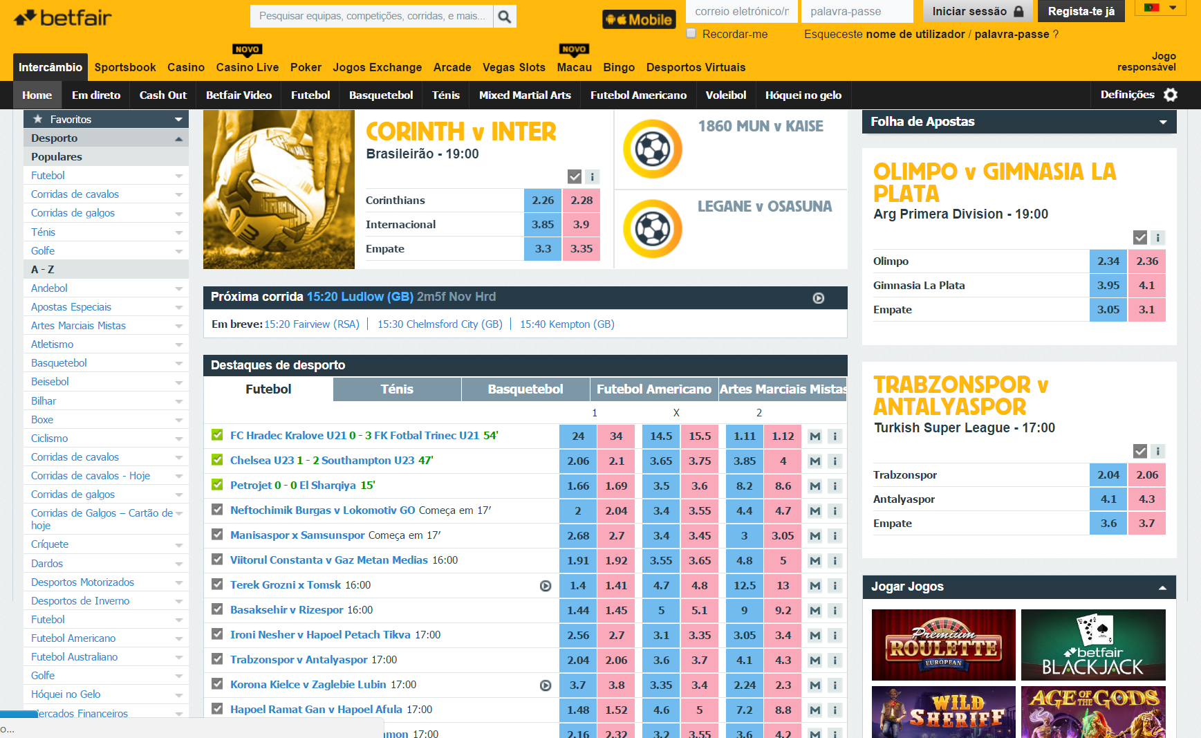Betfair Intercambio
